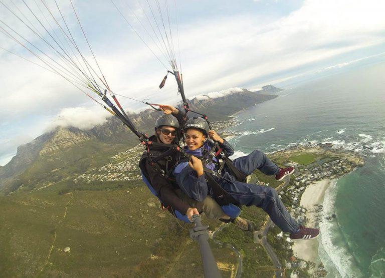Paragliding i Kapstaden