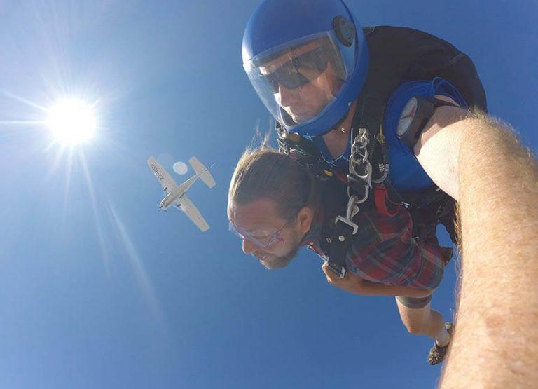 Hoppa fallskärm i Kapstaden