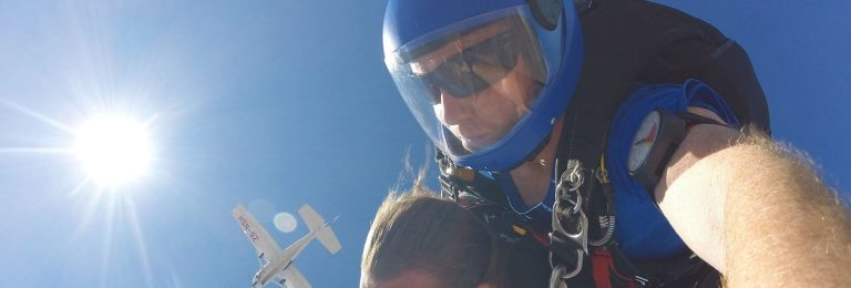 Fallskärmshopp i Kapstaden