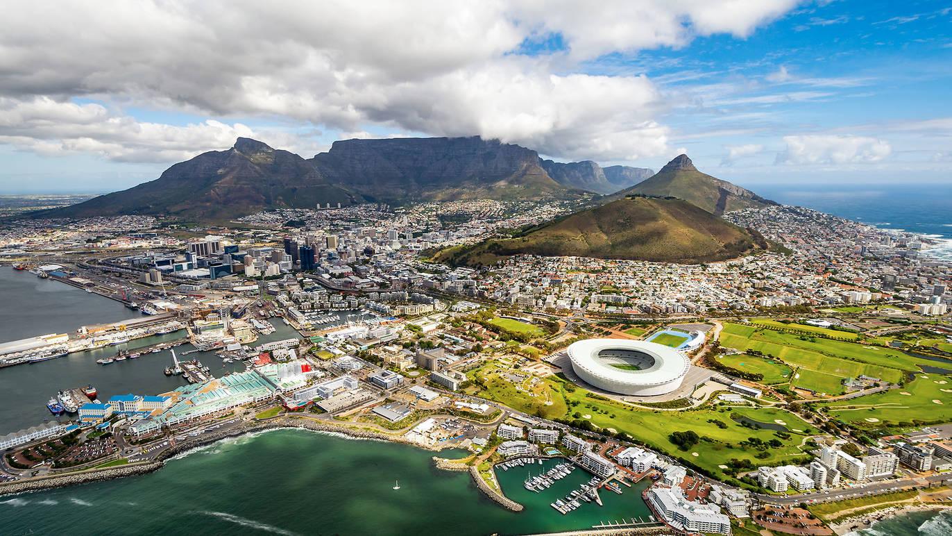 Vy över Taffelberget, Kapstaden