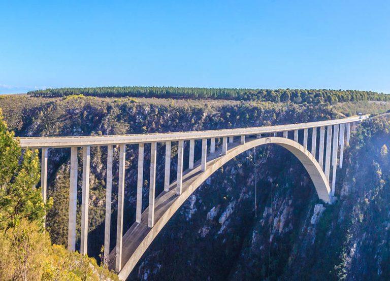 Bloukransbron, bungyjump i Sydafrika